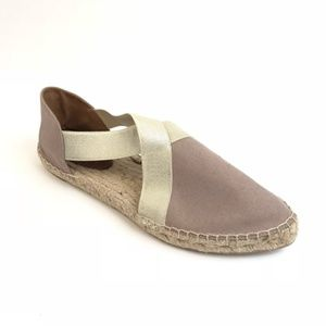 Andre Assous Nidia Crossover Taupe Espadrille Flat